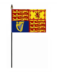 UK Royal Standard Hand Flag - Small.
